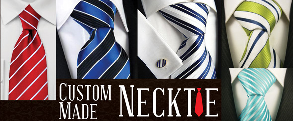 Custom made logo necktie
