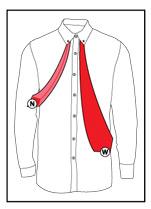Tie a necktie step 1