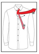 Tie a necktie step 3